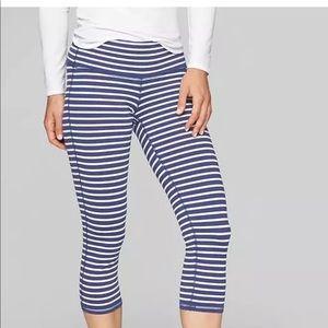 Athleta Stripes Chaturanga Capri Tight Leggings